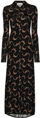 Paco Rabanne Floral-Print Long Shirtdress