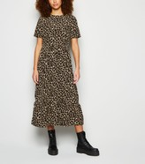 New Look Urban Bliss Giraffe Print Midi Smock Dress