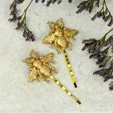 Bumble Bee Little Nell Gold Bumblebee Hair Slides