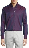 Eton Micro-Dot Long-Sleeve Sport Shirt, Burgundy