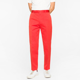 Paul Smith Men's Standard-Fit Red Cotton-Linen Chinos