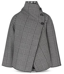 Giorgio Armani Emporio Plaid Print Cape Style Coat