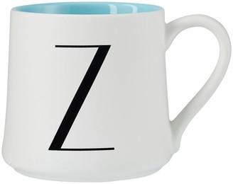 Indigo Monogram Mug Z