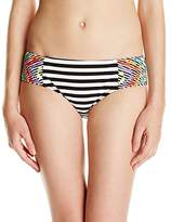 Nanette Lepore Women's Merengue Doll Embroidered Hipster Bikini Bottom