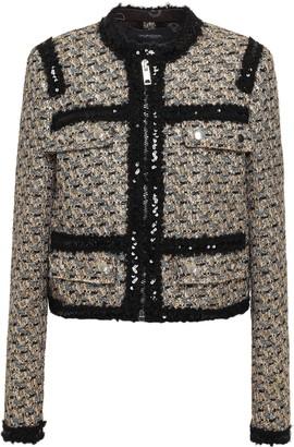 Giambattista Valli Embellished Boucle-tweed Jacket