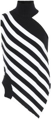 Monse One-shoulder striped wool sweater