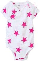 Aden Anais aden anais Kimono Bodysuit (Baby) - Medium Pink Star - 6-9 Months