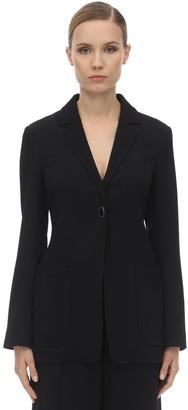 Victoria Beckham Fluid Tailored Wool Soft Blazer