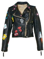 P.A.R.O.S.H. Women's Black Leather Outerwear Jacket.