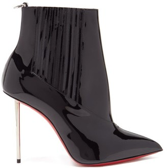 Christian Louboutin Epic 100 Patent-leather Ankle Boots - Black