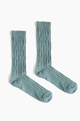 Lisa B Spice Cable Crew Socks