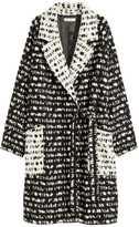 H&M Wool-blend Coat - Black/white patterned - Ladies