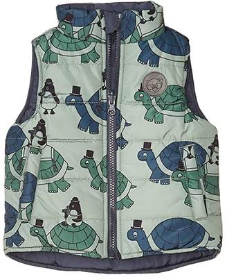 HUXBABY Tour Reversible Vest (Infant/Toddler) (Ink/Turtle) Boy's Clothing