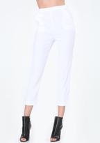 Bebe Petite Linen Crop Pants