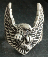 Nautilus Silvertone Soaring Eagle Adjustable Ring