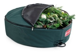 "TreeKeeper 30"" Wreath Storage Bag with Removable Handle - Foam Lined"