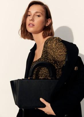 MANGO Accordion fold bag black - One size - Women