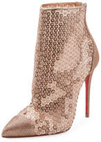 Christian Louboutin Gipsybootie Sequined Red Sole Ankle Boot