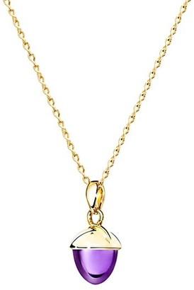 Tamara Comolli Mikado Bouquet Extra-Large 18K Yellow Gold & Amethyst Acorn Pendant