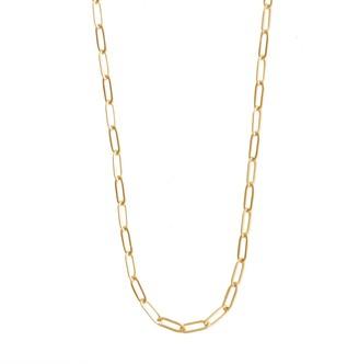 Wanderlust + Co Harper Chain Link Gold Necklace