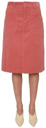 A.P.C. Jennie Corduroy Mini Skirt