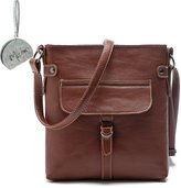 Micom Retro Accent Pu Leather Multi-Pocket Crossbody Purse Bag for Women,girls