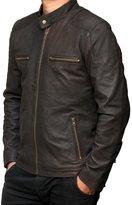 fjackets Steve Rogers Captain America Civil War Leather Jacket 3XL