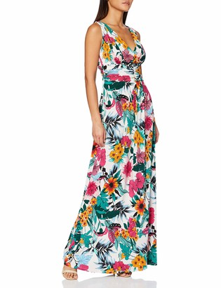 Gina Bacconi Women's Kianne Floral Jersey Maxi Dress Cocktail