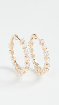 Marlo Laz 14k Mini Full Circle Hoop Earrings
