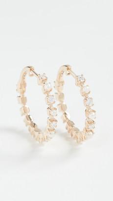 Marlo Laz 14k Mini Full Circle Hoop Earrings