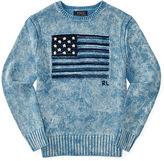 Ralph Lauren 8-20 Flag Indigo Cotton Sweater