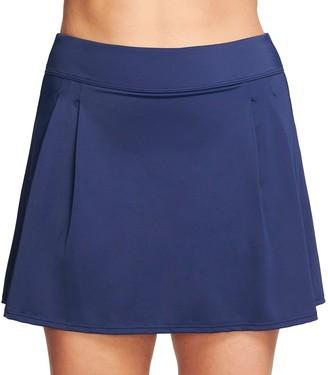 Plus Size Mazu Swim Pleated Thigh Minimizer Swim Skirt