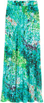 H&M Long Silk Skirt - Turquoise/patterned - Ladies