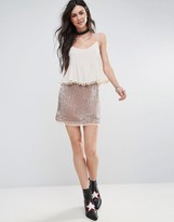 Free People Wild Child Sequined Skirt