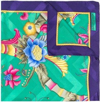 Balenciaga Pre-Owned 1980s Floral-Print Silk Scarf