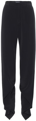 Y/Project Ruffled high-rise straight pants