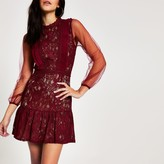 Forever Unique River Island Womens Red lace waisted mini dress