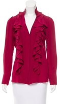 Fendi Ruffle-Accented Button-Up Top