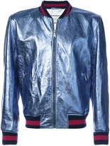 gucci varsity jacket. gucci web stripe bomber jacket varsity