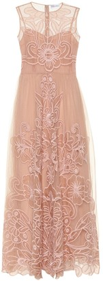 RED Valentino Embroidered silk gown