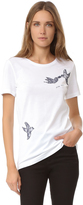 Nina Ricci Jersey Short Sleeve Tee with Embroidered Dove