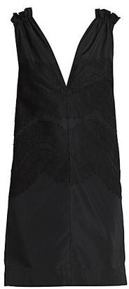 Givenchy Lace Ruffle-Trim Dress