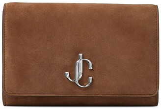 Jimmy Choo Varenne logo-emblem clutch bag