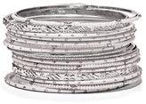 New York & Co. 17-Piece Silvertone Bangle Bracelet Set