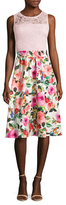 Alexia Admor Floral Printed Two For One Dress