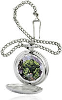 Marvel Hulk Mens Silver-Tone Pocket Watch