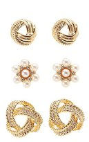 Charlotte Russe Embellished Stud Earrings - 3 Pack