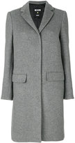 MSGM concealed button coat - women - Polyamide/Viscose/Wool - 38