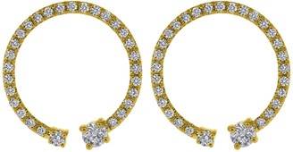 KatKim Lorraine Pave Diamond Earrings