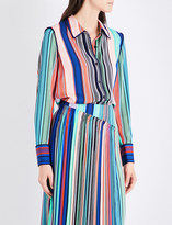 Diane von Furstenberg Striped stretch-silk shirt